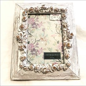Cynthia Rowley Picture Frame 5x7 White Flowers